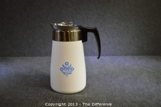 Vintage Corning Ware Cornflower 9 Cup Coffee Pot